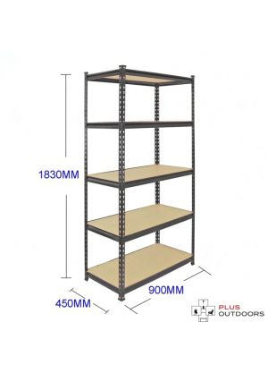 5 Tier Adjustable Shelf 90cm (W)