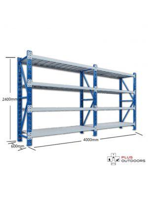 L 4M x W 0.6M x H 2.4M - Blue/Grey