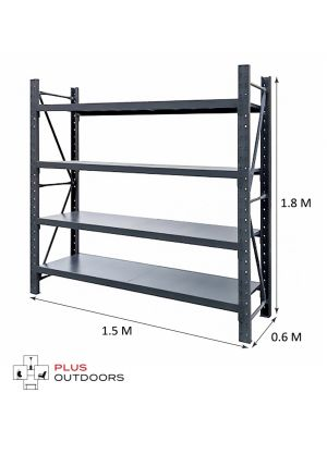 L 1.5M x W 0.6M x H 1.8M  Charcoal