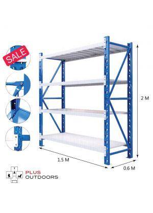 L 1.5M x W 0.6M x H 2M Blue/Grey