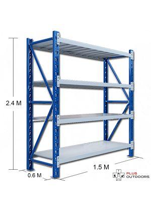 L 1.5M x W 0.6M x H 2.4M Blue/Grey