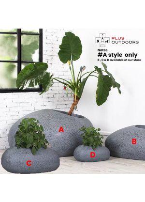 Rock shape Fibreglass Home Garden Pot For Indoor & Outdoor Use - A