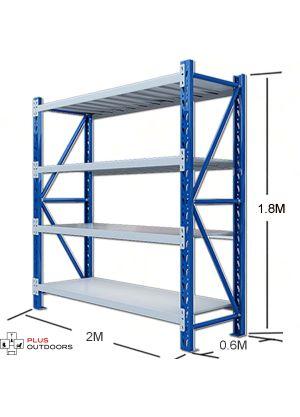2M Shelving 2M x 0.6M x 1.8M Blue/Grey
