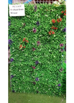 Artificial Plastic Plants Flower Wall WITH FLOWER