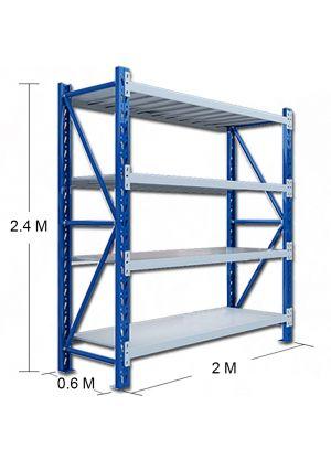 L 2M x W 0.6M x H 2.4M Blue/Grey