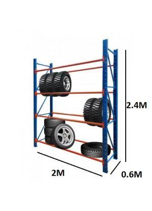 Heavy Duty Tyre Rack 2M x 2.4M Blue & Orange