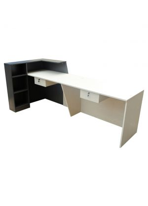 Model White/Charcoal 2.4m Reception Desk Counter