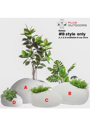 Rock shape Fibreglass Home Garden Pot For Indoor & Outdoor Use - B
