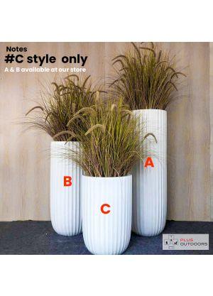 S800 tall oval sharp Garden Pot Fibreglass Home Garden Pot For Indoor & Outdoor Use - C