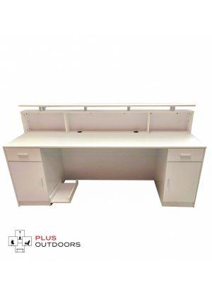 White Reception Desk Counter 2M