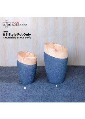 S805 Garden Pot Fibreglass Home Garden Pot For Indoor & Outdoor Use - B