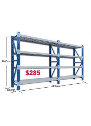 L 4M x W 0.6M x H 2M - Blue/Grey