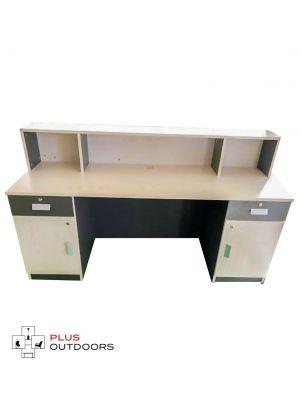 Model White/Charcoal 1.8m Reception Desk Counter