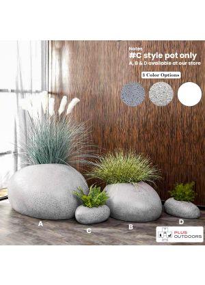 Rock shape Fibreglass Home Garden Pot For Indoor & Outdoor Use - C