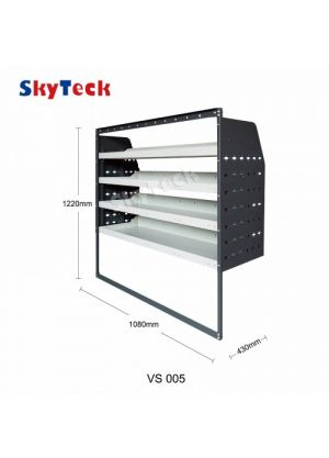 Van shelving Guard 4 Shelf Trays Steel Racking Storage VS005