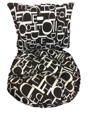 Single Pod Chair Cushion - Black & White letters