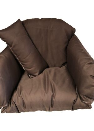 Single Pod Chair Armrest Cushion - Brown