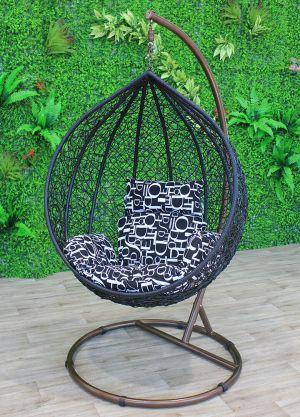 Sphere Bird Nest Egg Chair-Black