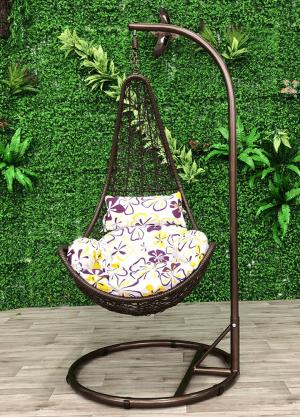 Half Shell Egg Chair-Brown