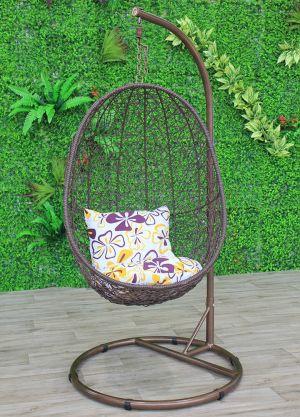 Pendant Bird Nest Pod Chair-Brown