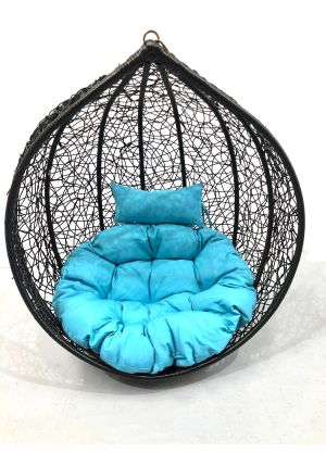 Hanging Egg Chair Large Cushion Replacement Swing Egg Chair-Aqua