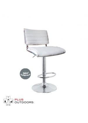 Bar Stools Kitchen Stool Leather Barstools Swivel Chairs Gas Lift White