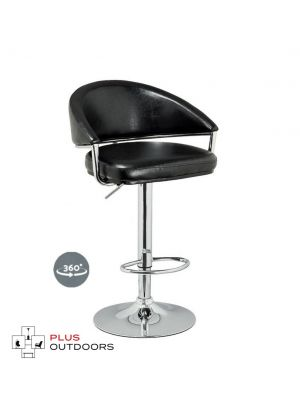 Bar Stools Kitchen Swivel Bar Stool Leather Gas Lift Chairs Black