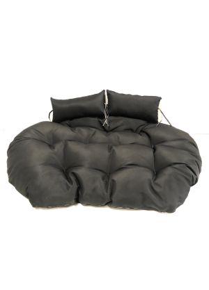 Double Pod Chair Cushion - Black