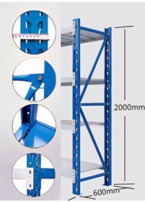 2M Shelving Upright Blue