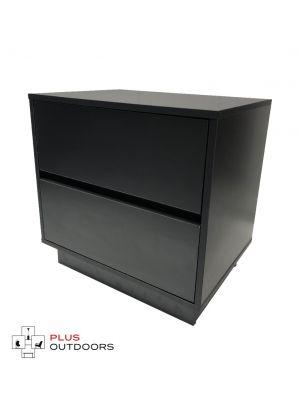 2 Drawer Cabinet Black Colour