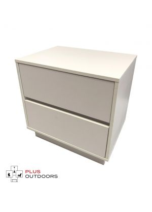 2 Drawer Cabinet White Colour