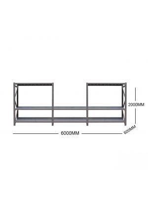 6M Metal Garage Shelving + Workbench Package (Dark Charcoal)