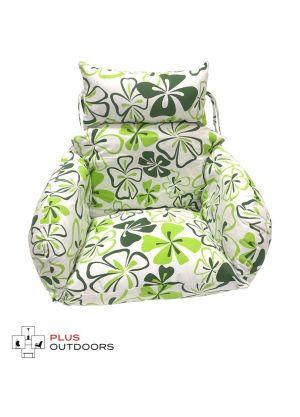 Single Pod Chair Armrest Cushion - Green Flower