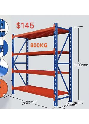 2M Shelving 2M x 0.6M x 2M Blue/Orange