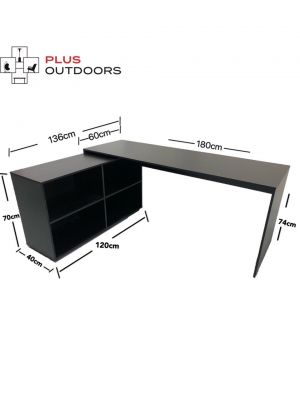 Brand New Simple L Shaped Corner Computer Desk-Black