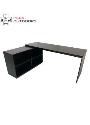 Simple L Shaped Corner Computer Desk-Black