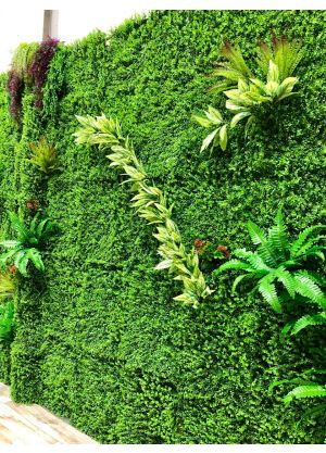 Artificial Plastic Plants Flower Wall
