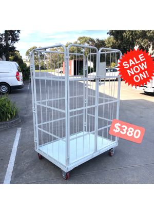 Heavy Duty Cage Trolley with padlockable doors - pick up only