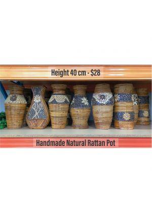 Handmade Natural Rattan Pot