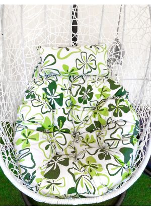 Hanging Egg Chair Large Cushion Replacements Swing Egg Chair- Green Floral