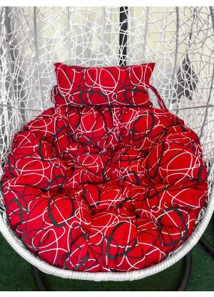 Hanging Egg Chair Large Cushion Replacements Swing Egg Chair- Red Oval