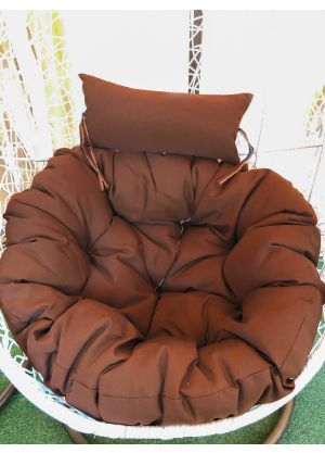 Hanging Egg Chair Large Cushion Replacements Swing Egg Chair-Brown