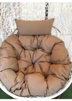 HANGING EGG CHAIR LARGE CUSHION REPLACEMENTS SWING EGG CHAIR-Mocha