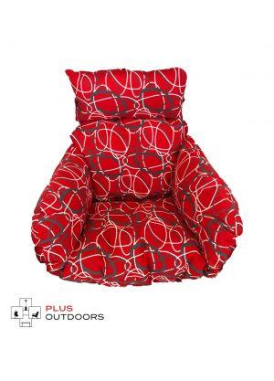 Single Pod Chair Armrest Cushion - Red Oval