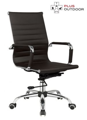 Office Chair Leather Executive Computer Chairs Seat Black