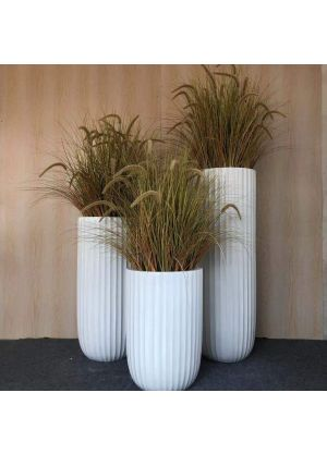 S800 whole set tall oval sharp Garden Pot Fibreglass Home Garden Pot For Indoor & Outdoor Use