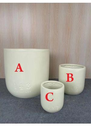 143 (one for tree) Garden Pot Fibreglass Home Garden Pot For Indoor & Outdoor Use - C