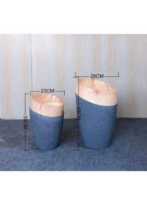 S805 Set Garden Pot Fibreglass Home Garden Pot For Indoor & Outdoor Use