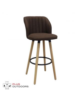 Kitchen Wooden Bar Stools Kitchen Swivel Bar Stool Chairs Leather - Brown