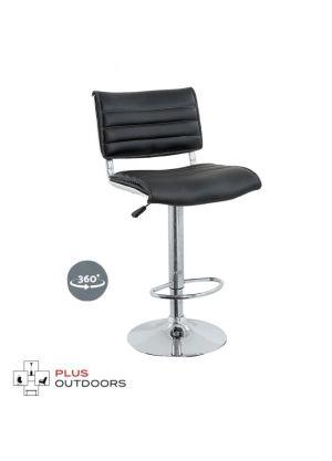 Bar Stools Kitchen Stool Leather Barstool Swivel Chairs Gas Lift Black